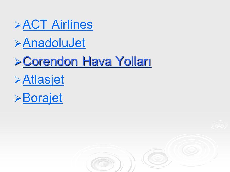 FİLO YAPISI TipAdet Koltuk Kapasitesi Airbus A330 41434 - 3 x 358 - 1 x360 Airbus A300-600 61887 - 1 x 316 - 4 x 315 - 1 x 311 AirbusA321 102174 - 2 x 220 - 6 x 219 - 2 x 210 AirbusA320 142520 - 14 x 180 Toplam 348015