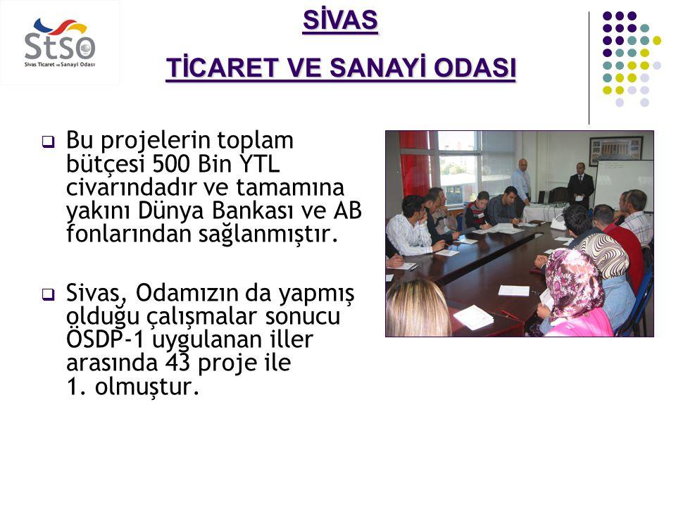 SİVAS TİCARET VE SANAYİ ODASI AB/İŞ-KUR Aktif İşgücü Programı Kadın ve Genç Girişimcilerin Desteklenmesi Projesi