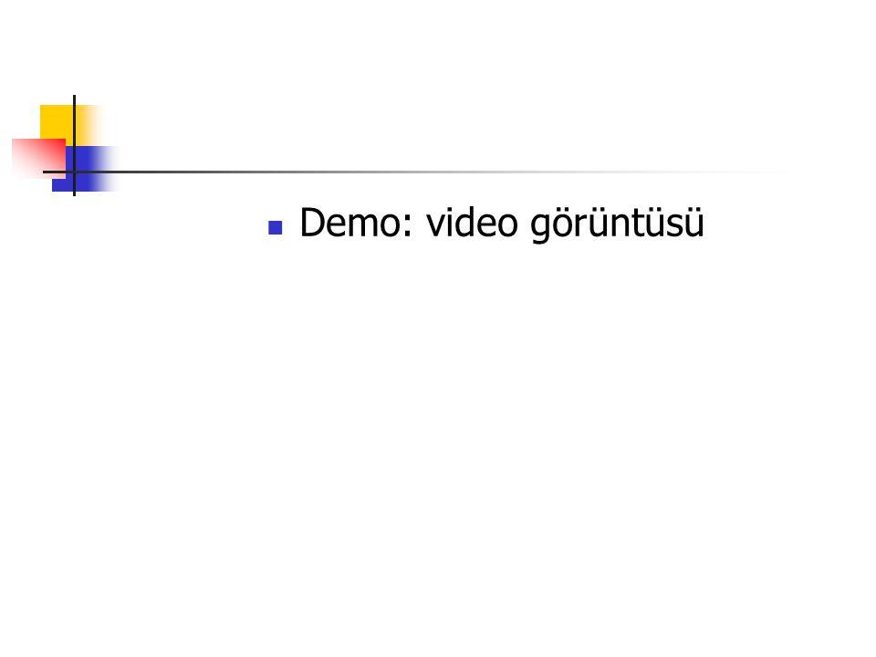 Demo: video görüntüsü