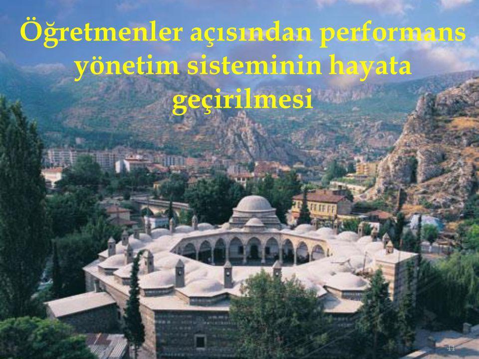 44 Öğretmenler açısından performans yönetim sisteminin hayata geçirilmesi