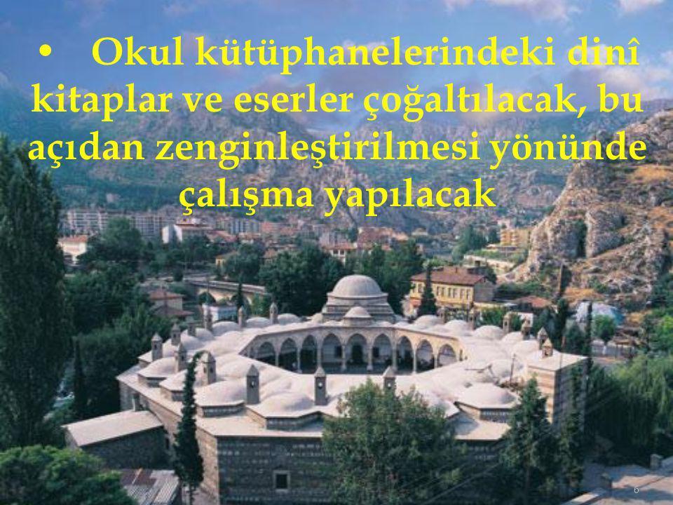 47 İlimizdeki Hafız yetiştirme potansiyeli göz önünde bulundurulduğunda, Hafız öğrencilerin eğitim göreceği, Türkiye genelinde açılacak olan İmam Hatip Liselerinden bir tanesinin ilimizde açılması