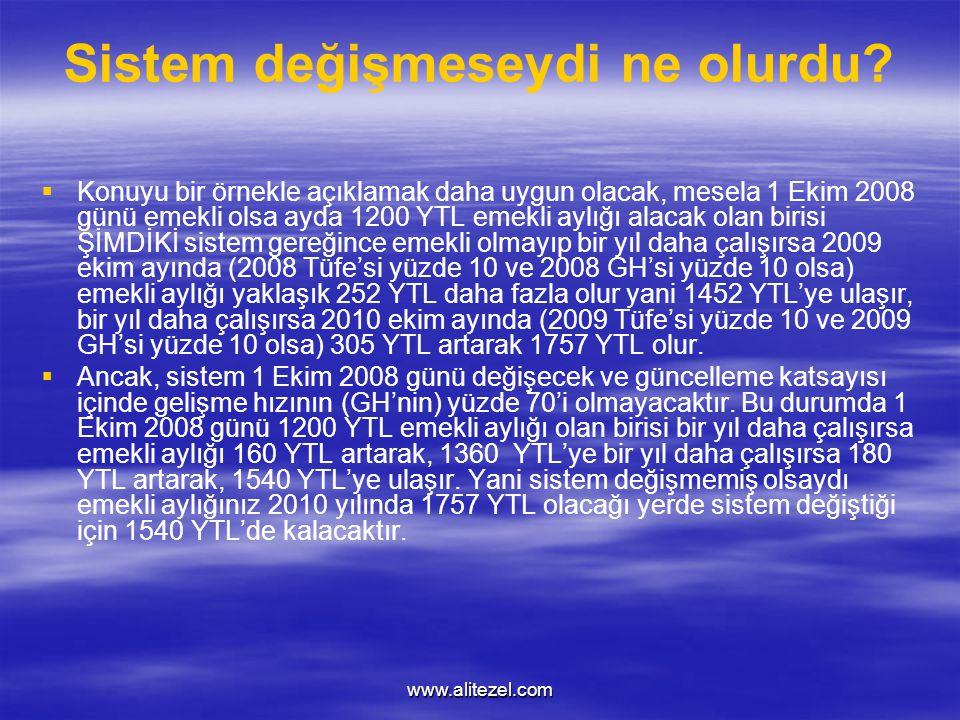 www.alitezel.com Sistem değişmeseydi ne olurdu.
