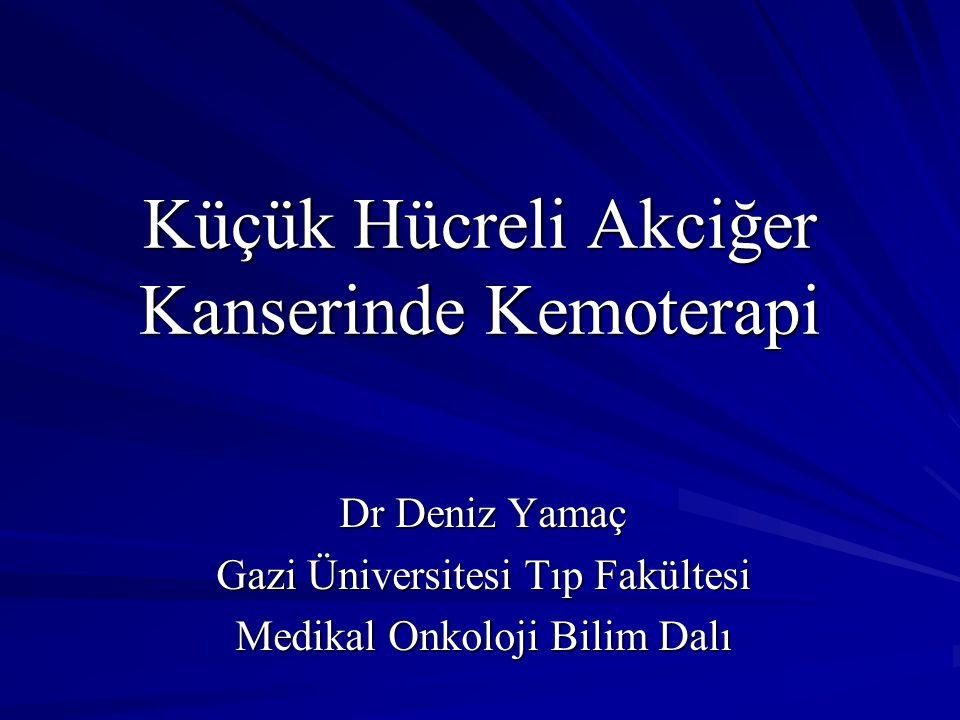 Küçük Hücreli Akciğer Kanserinde Kemoterapi Dr Deniz Yamaç Gazi Üniversitesi Tıp Fakültesi Medikal Onkoloji Bilim Dalı