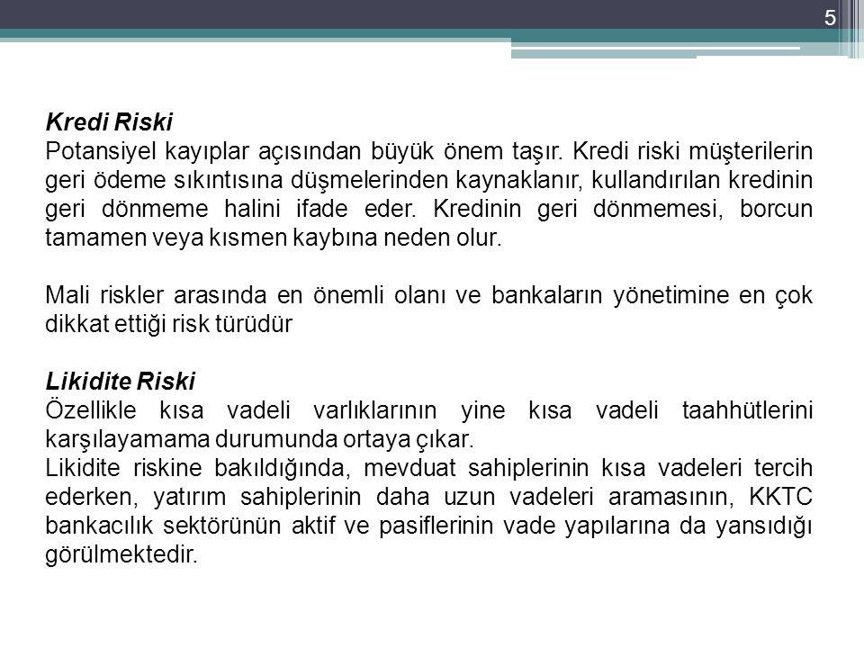 5 Kredi Riski Potansiyel kayıplar açısından büyük önem taşır.