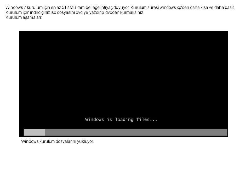 Görüntü performansını kontrol eden açılış ekranı