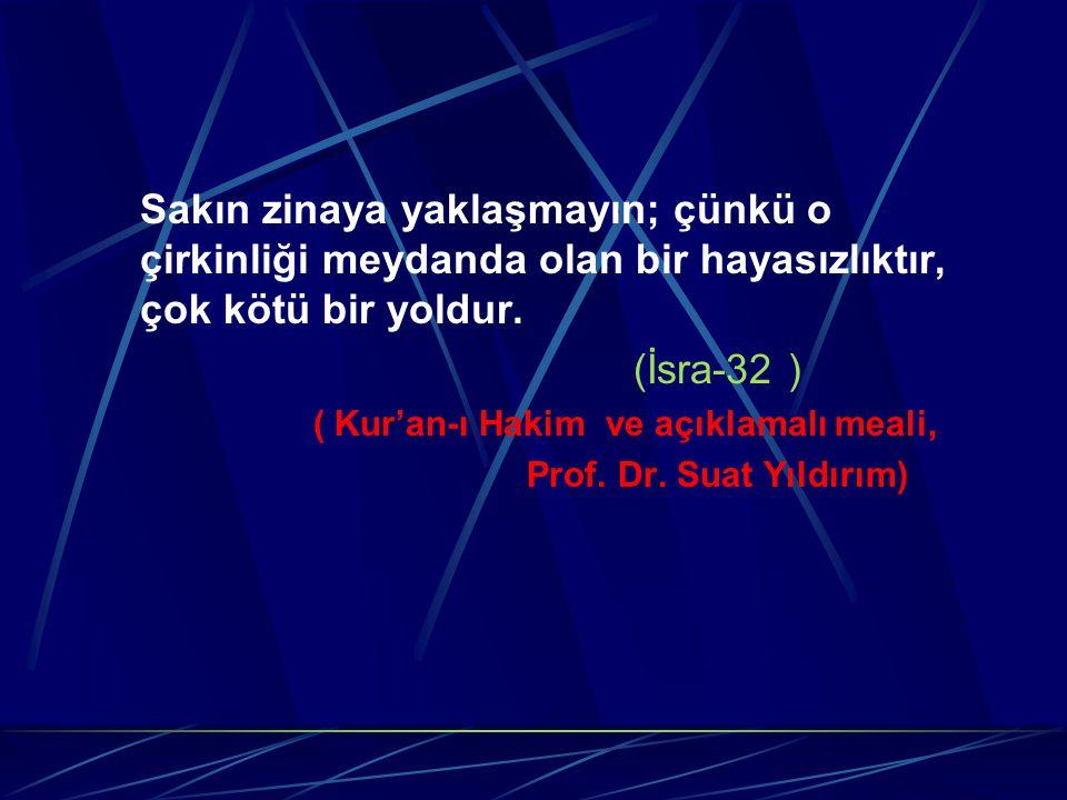 Hz.Muhammed (sav): Ey insanlar topluluğu zinadan kaçınınız, çünkü onda altı özellik vardır.