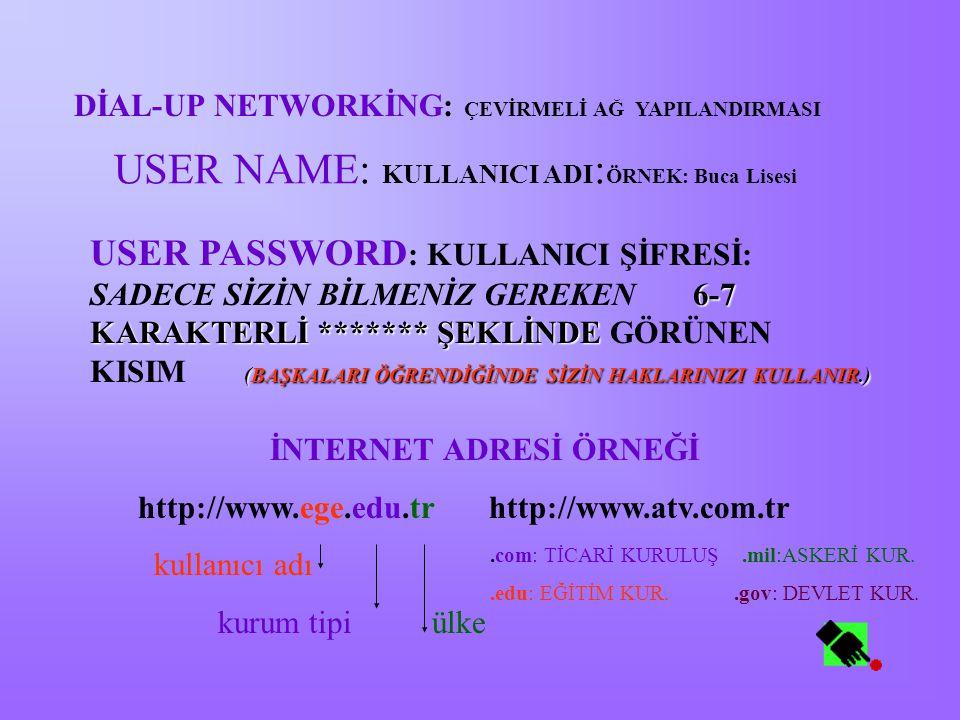 TEKNİK TERİMLER HTTP: HİPER TEXT TRANSFER PROTOCOL:WEB SAYFALARININ OKUNMASINI VE AKTARILMASINI SAĞLAYAN PROTOKOL E-MAİL: ELEKTRONİK POSTA WWW: WORLD WİDE WEB: AYNI ANDA METİN-SES-RESİM- ANİMASYON VE VİDEO ÖZELLİKLERİNİN İLETİLMESİNİ SAĞLAYAN İNTERNET ARACI.