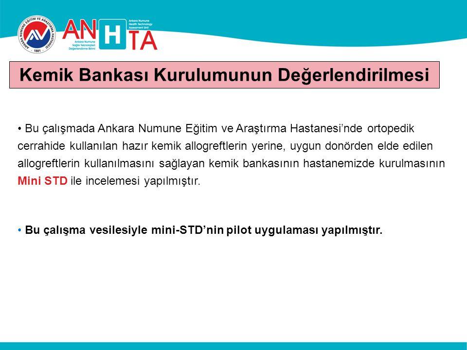 Bu çalışmada Ankara Numune Eğitim ve Araştırma Hastanesi'nde ortopedik cerrahide kullanılan hazır kemik allogreftlerin yerine, uygun donörden elde edi