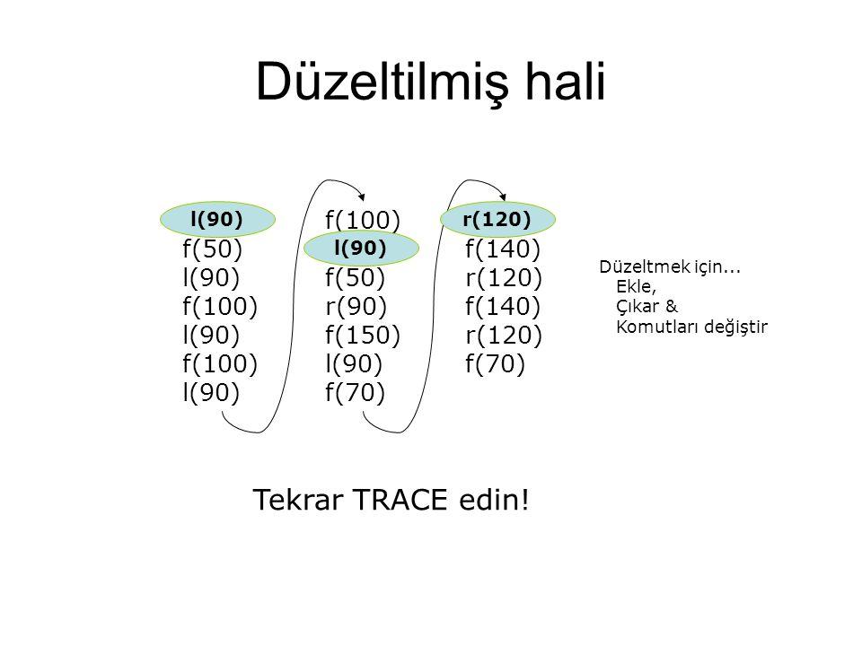 Düzeltilmiş hali r(180) f(50) l(90) f(100) l(90) f(100) l(90) f(100) l(100) f(50) r(90) f(150) l(90) f(70) l(120) f(140) r(120) f(140) r(120) f(70) Te