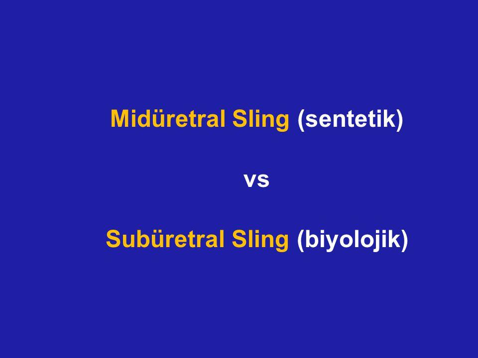 Midüretral Sling (sentetik) vs Subüretral Sling (biyolojik)