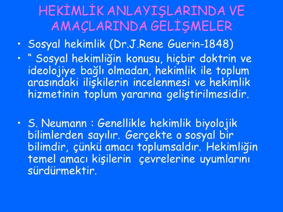 R.Virchow – Hekimlikte Reform (1848) Herkesin çalışma hakkı vardır.