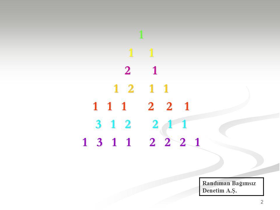 2 1 1 1 2 1 1 2 1 1 1 1 1 2 2 1 3 1 2 2 1 1 1 3 1 1 2 2 2 1 Randıman Bağımsız Denetim A.Ş.