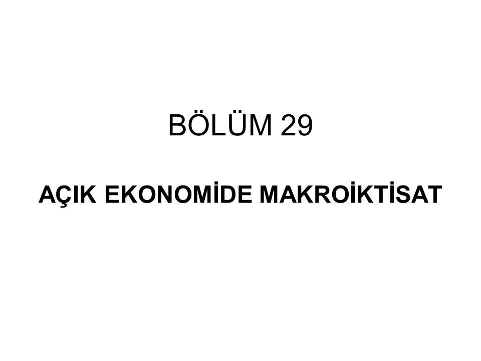 BÖLÜM 29 AÇIK EKONOMİDE MAKROİKTİSAT