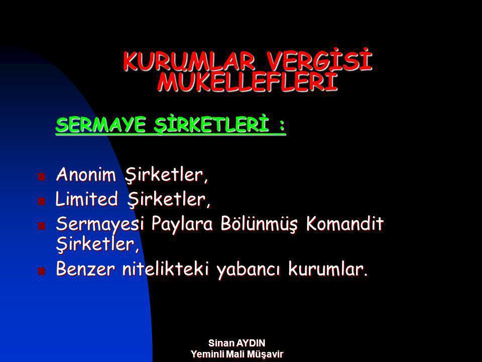 Sinan AYDIN Yeminli Mali Müşavir SERBEST BÖLGE KAZANÇ İSTİSNASI Serbest Bölgeler Kanunu'na eklenen geçici 3.