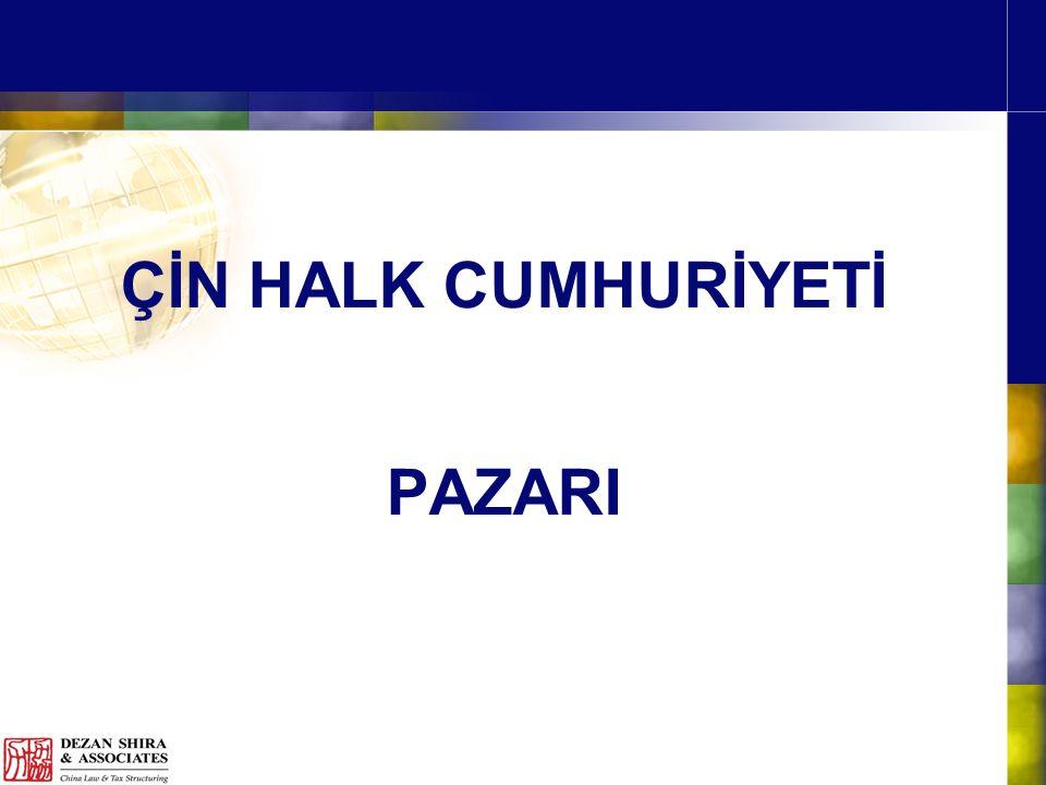 ÇİN HALK CUMHURİYETİ PAZARI
