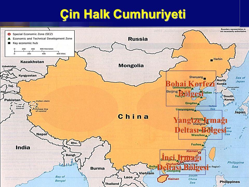 Çin Halk Cumhuriyeti Bohai Korfezi Bölgesi Yangtze Irmağı Deltası Bölgesi İnci Irmağı Deltası Bölgesi