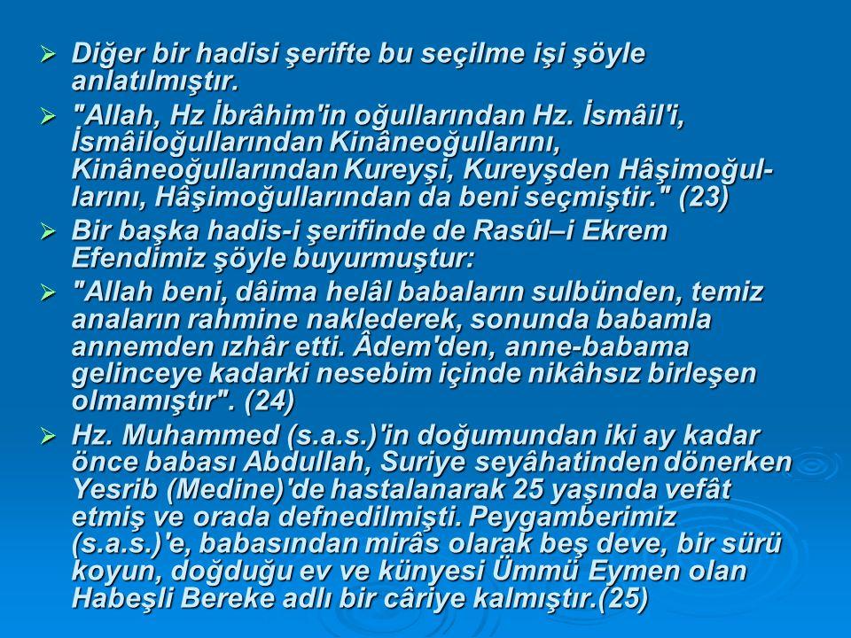  TAİF SEFERİ  İslam dininin kurucusu Hz.