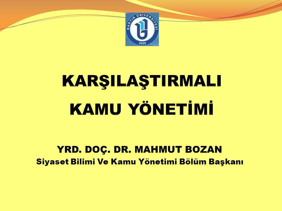 SUUDİ ARABİSTAN 14.01.2015 Dr.Mahmut Bozan- Karşılaştırmalı Kamu Yön. 2