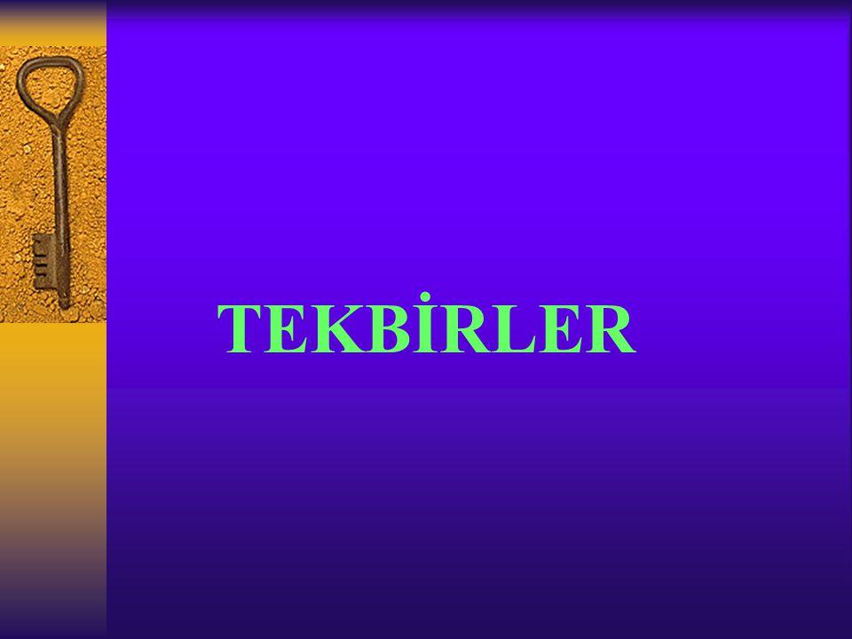 TEKBİRLER
