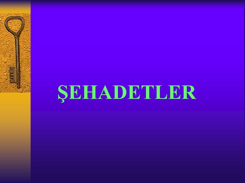 ŞEHADETLER