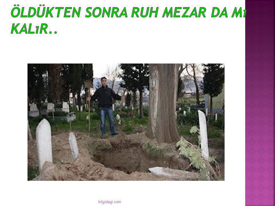  Ruhlar genellikle mezar kenarlarında bulunurlar.. bilgidagi.com