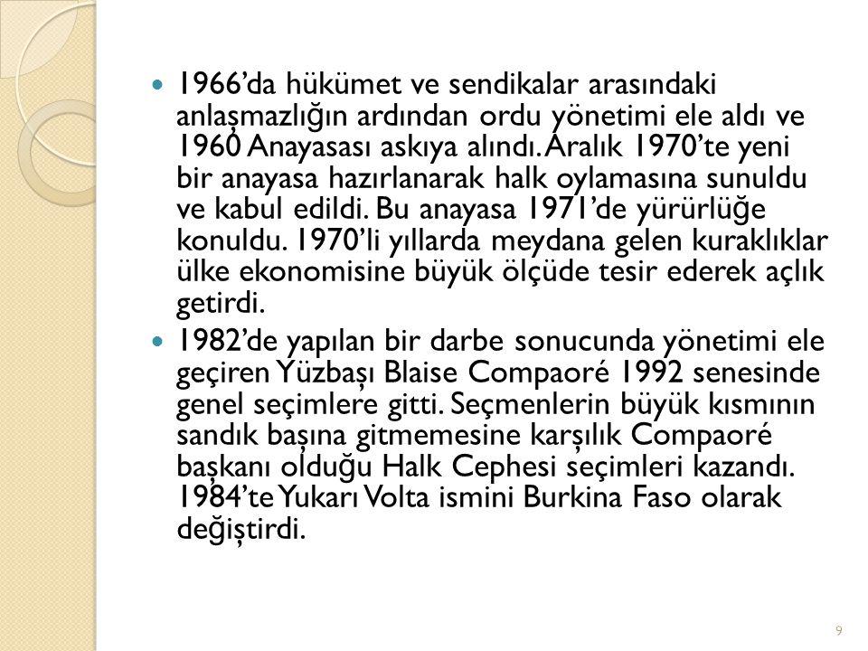 1966'da hükümet ve sendikalar arasındaki anlaşmazlı ğ ın ardından ordu yönetimi ele aldı ve 1960 Anayasası askıya alındı. Aralık 1970'te yeni bir anay