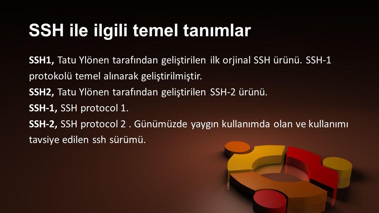 SSH-1 protokolu ve SSH1, ilk olarak 1995 yılında Helsinki teknoloji universitesinde araştırma görevlisi olan Tatu Ylönen tarafından geliştirilmiştir.