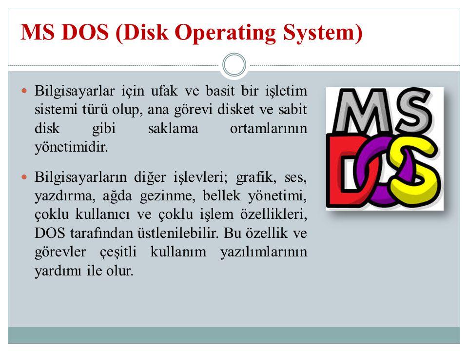 Bilgisayarlar için ufak ve basit bir işletim sistemi türü olup, ana görevi disket ve sabit disk gibi saklama ortamlarının yönetimidir.