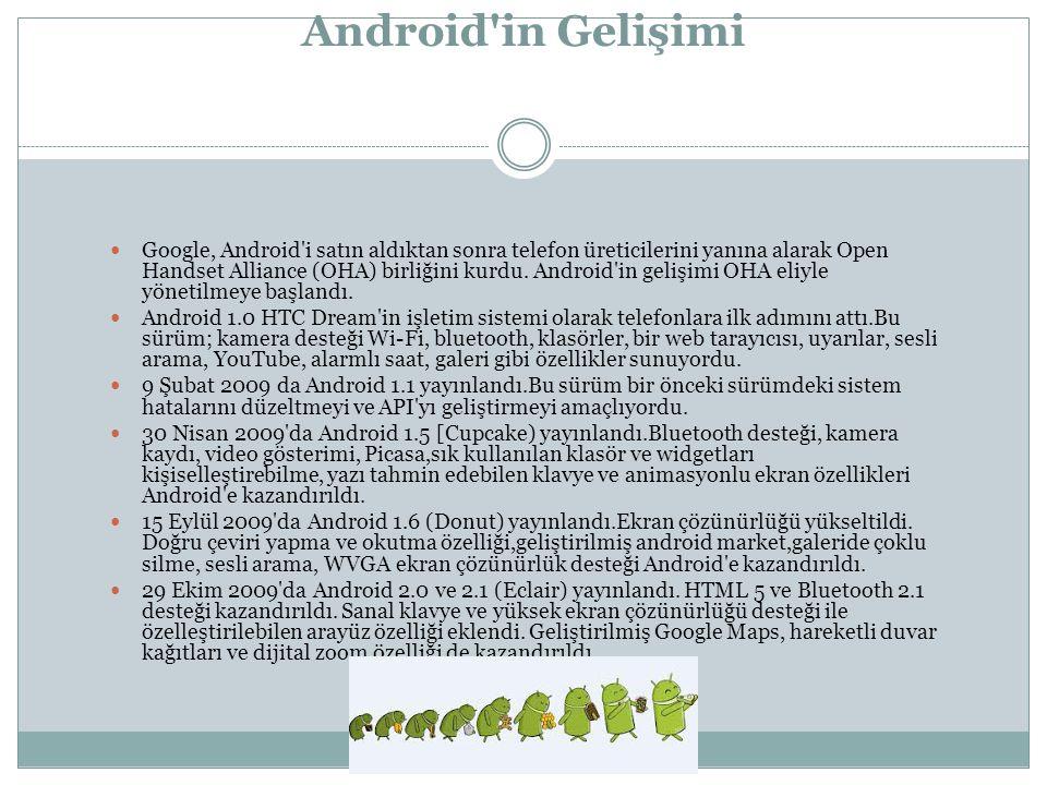 Google, Android i satın aldıktan sonra telefon üreticilerini yanına alarak Open Handset Alliance (OHA) birliğini kurdu.
