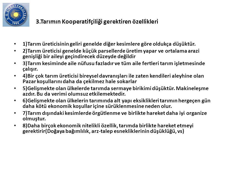 TÜRKİYEDE ÇİFTÇİNİN ÖRGÜTLENME DESENİ VE KOOPERATİF DIŞI ÖRGÜTLENME MODELLERİ Prof.Dr.Murat YERCAN