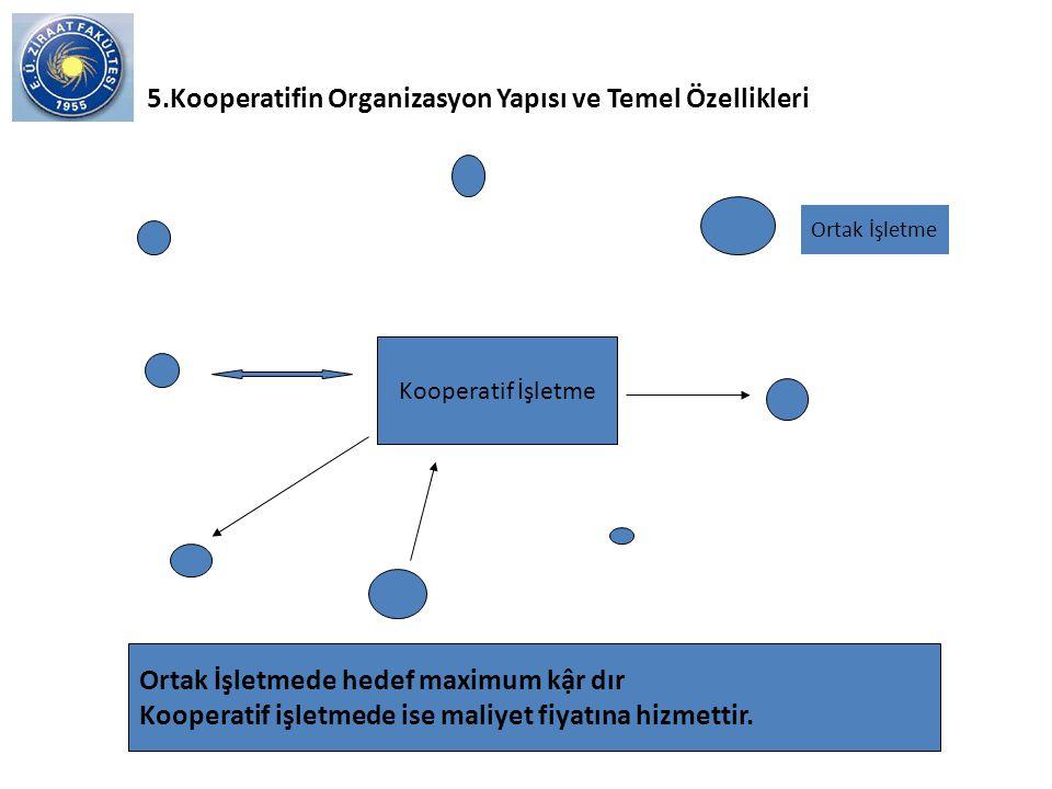 6) İşçi Kooperatifleri Çalışanların ortak oldukları sanayi tesislerini kooperatif olarak işletmeleridir.Bu nedenle kooperatiflere işçi üretim kooperatifleri veya sanayi kooperatifleri de denilmektedir.