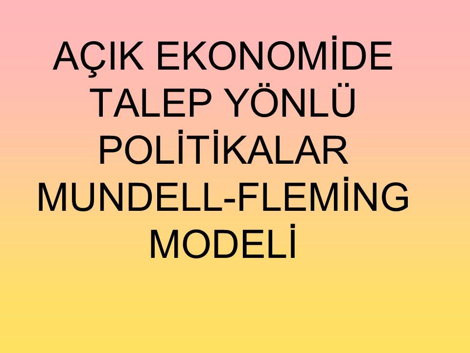 AÇIK EKONOMİDE TALEP YÖNLÜ POLİTİKALAR MUNDELL-FLEMİNG MODELİ
