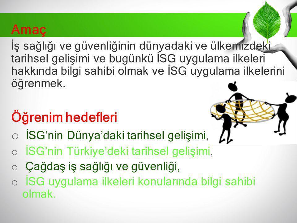Türkiye'de İSG Tarihi Gelişimi Birinci Türkiye Büyük Millet Meclisi döneminde 4 Mart 1923 tarihinde İzmir de toplanan I.