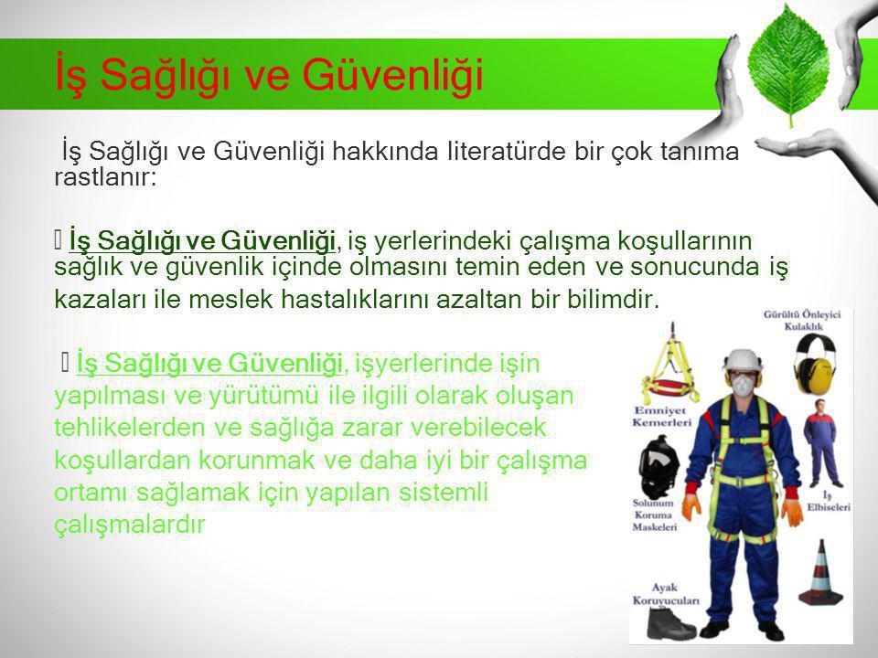 Türkiye'de İSG Tarihi Gelişimi İlk sanayi kuruluşlarının II.Mahmut döneminde savaş sanayi ile birlikte başladığı görülmüştür.