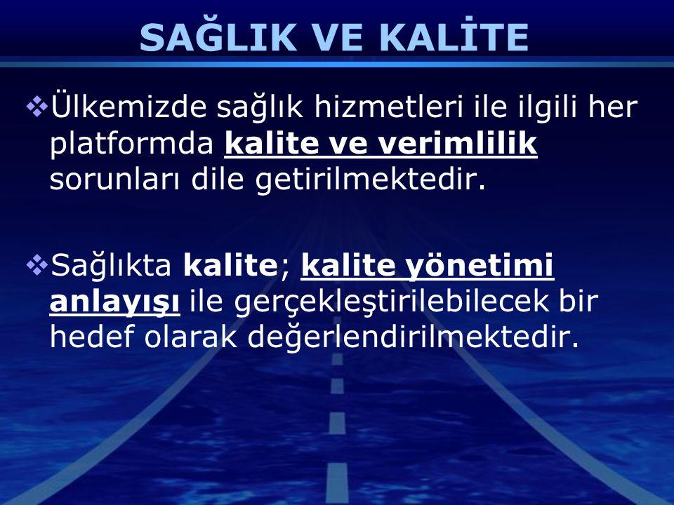 Kalite Yönetim Direktörü  Kalite Yönetim Sistemi içinde kilit role sahiptir.
