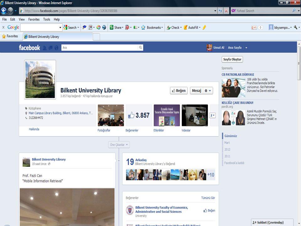 - 20 19 Nisan 2012, Bilkent Ünivesitesi Kütüphanesi