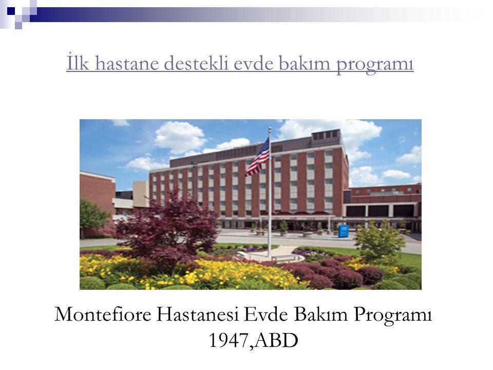 İlk hastane destekli evde bakım programı Montefiore Hastanesi Evde Bakım Programı 1947,ABD