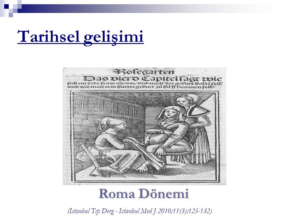 Tarihsel gelişimi Roma Dönemi (İstanbul Tıp Derg - Istanbul Med J 2010;11(3):125-132)