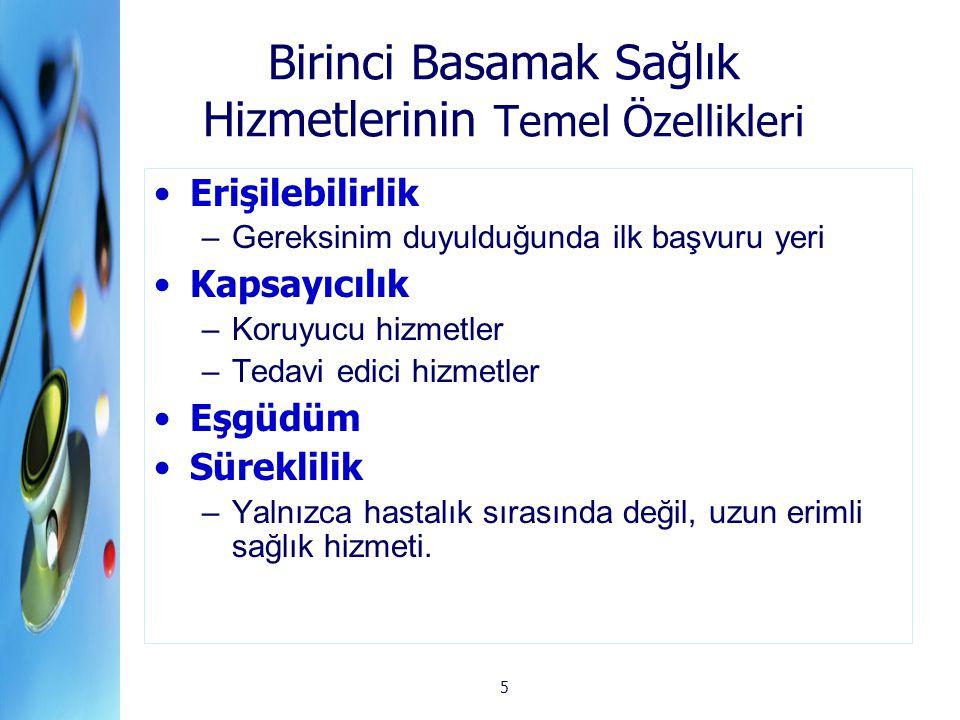 36 TTB Türkiye aile hekimliği sistemi bölge ve/veya nüfus temelli değildir, bu nedenle bu sistem içinde sağlık hizmetini ve toplum sağlığını izlemek bakımından hiçbir epidemiyolojik değerlendirme gerçekleştirilemez toplumsal yaşamda belli bir karşılığı olan (örneğin belli bir yerde yaşayan, çalışan) belli bir nüfus yoktur.