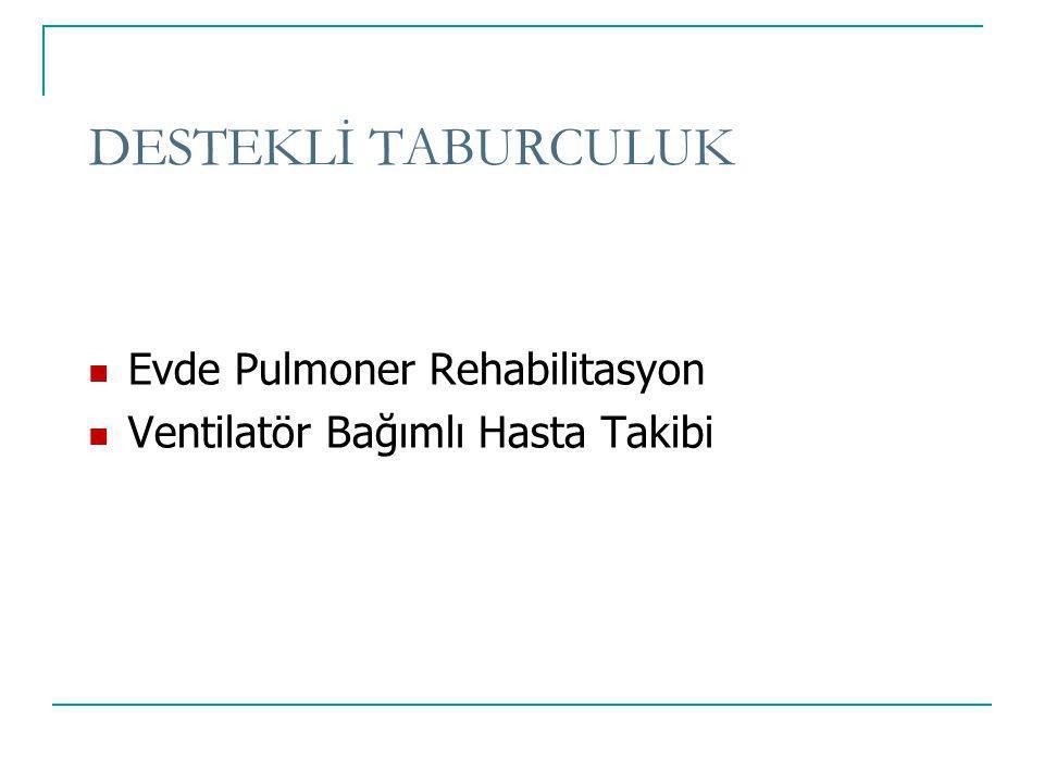 DESTEKLİ TABURCULUK Evde Pulmoner Rehabilitasyon Ventilatör Bağımlı Hasta Takibi