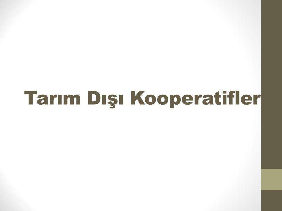 Tarım Dışı Kooperatifler
