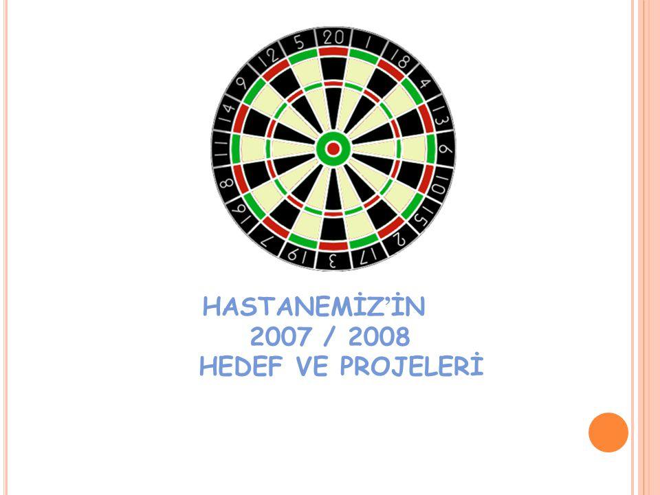 HASTANEMİZ ' İN 2007 / 2008 HEDEF VE PROJELERİ