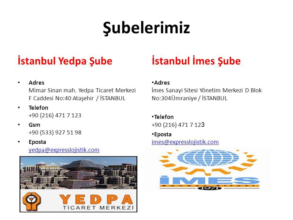 Şubelerimiz İstanbul Yedpa Şube Adres Mimar Sinan mah. Yedpa Ticaret Merkezi F Caddesi No:40 Ataşehir / İSTANBUL Telefon +90 (216) 471 7 123 Gsm +90 (