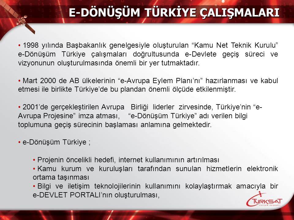 """1998 yılında Başbakanlık genelgesiyle oluşturulan """"Kamu Net Teknik Kurulu"""" e-Dönüşüm Türkiye çalışmaları doğrultusunda e-Devlete geçiş süreci ve vizyo"""