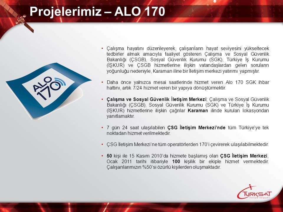 Projelerimiz – ALO 170 Çalışma hayatını düzenleyerek, çalışanların hayat seviyesini yükseltecek tedbirler almak amacıyla faaliyet gösteren Çalışma ve