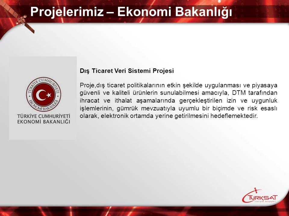 Projelerimiz – Ekonomi Bakanlığı Dış Ticaret Veri Sistemi Projesi Proje,dış ticaret politikalarının etkin şekilde uygulanması ve piyasaya güvenli ve k
