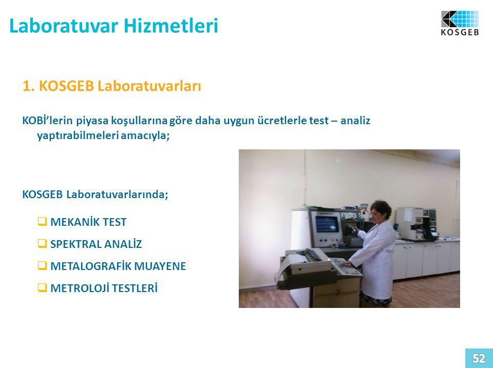 Laboratuvar Hizmetleri 1.