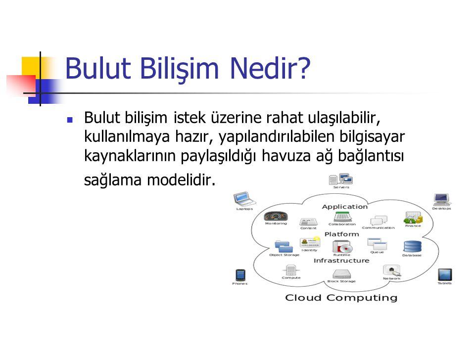 KURULUM MODELERİ Genel Bulut Genel bulut uygulamaları, depolama ve diğer kaynaklar bir hizmet sağlayıcı tarafından genel kullanıcılara sunulurlar.