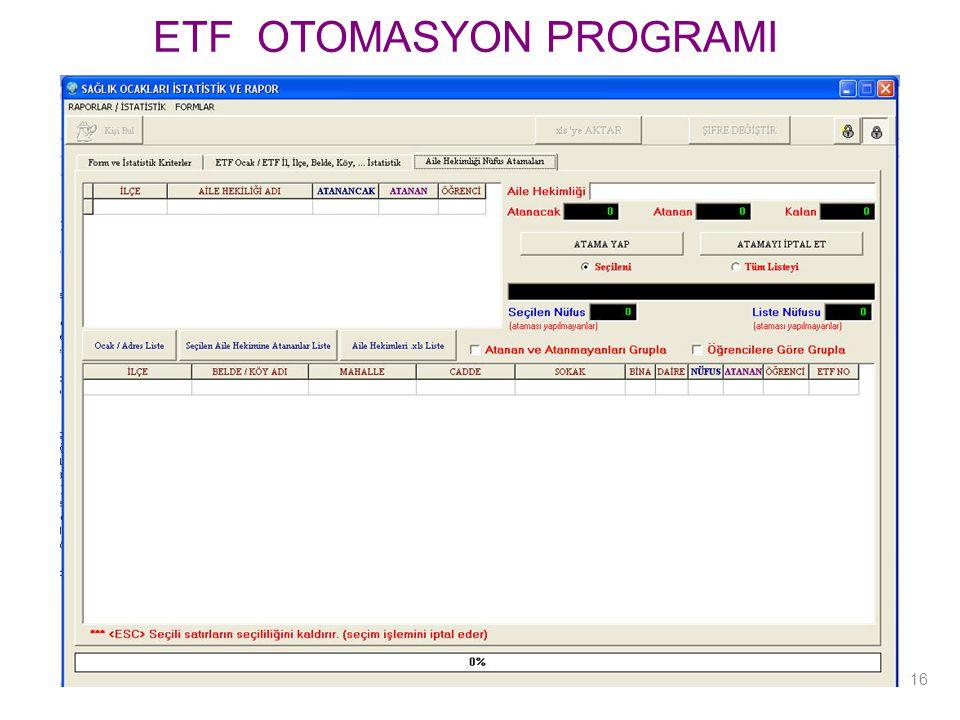 ETF OTOMASYON PROGRAMI 16