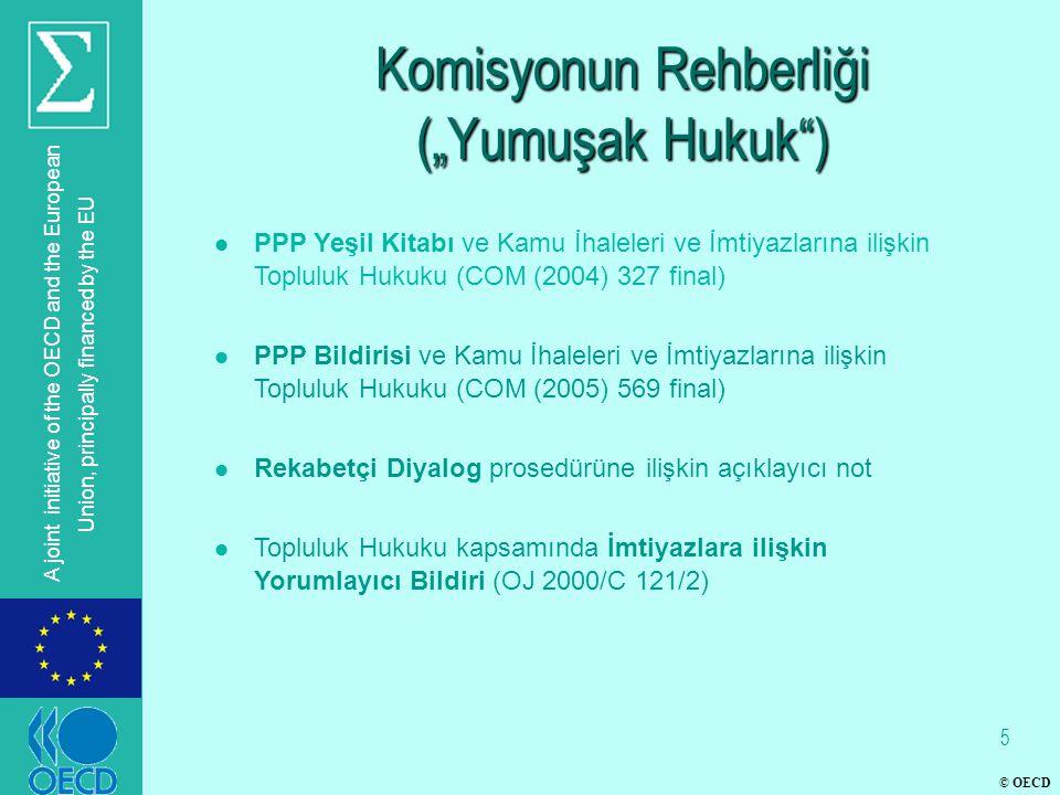 "© OECD A joint initiative of the OECD and the European Union, principally financed by the EU Komisyonun Rehberliği (""Yumuşak Hukuk"") l PPP Yeşil Kitab"